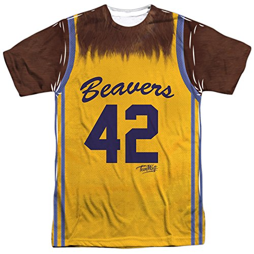 Teen Wolf Film Wolf Beavers Sports Jersey Adult Front/Back Print T-Shirt