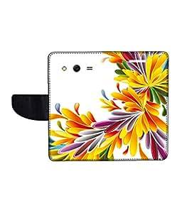 KolorEdge Printed Flip Cover For Samsung Galaxy Core ll Multicolor -(45KeMLogo12429SamCore2)