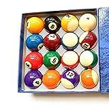 WXS Billardtisch Billardkugelset Komplettes 16-Ball-Set 1/4 Zoll