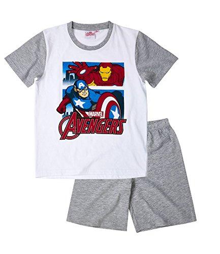 Avengers Assemble Ragazzi Pigiama maniche corte – bianco