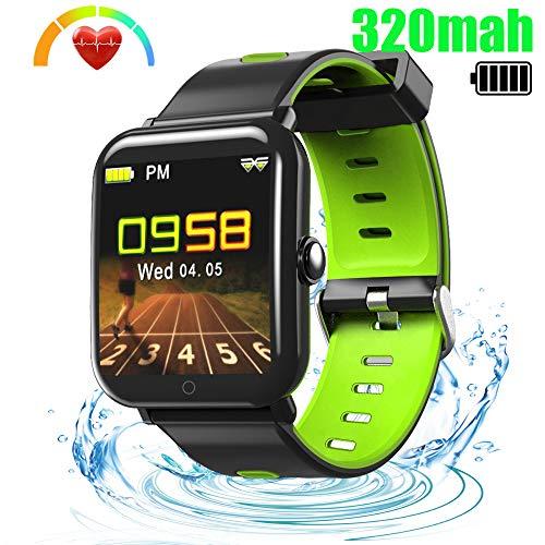 LUXSURE Fitness Armband Fitness Trackers mit Pulsmesser Aktivitätstracker Wasserdicht IP67 1,3 Zoll Farbbildschirm Schrittzähler Kamerasteuerung Vibrationsalarm Anruf SMS Whatsapp für iOS Android