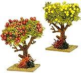 alles-meine.de GmbH 1 Baum mit Bunten Früchten - Granatapfel / Zitronenbaum - Miniatur - 8,5 cm - ..