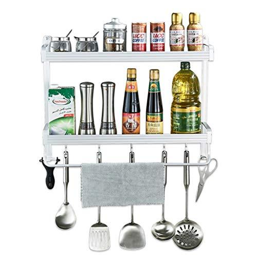 Küchen-Wandregal Gewürzregal - mit Haken - Chrom (größe : 60cm)