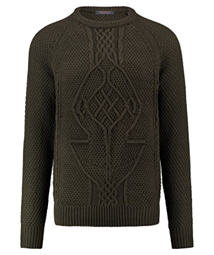Scotch & Soda Herren Chunky Patterned Pullover Grün (Deep Forest 1710)