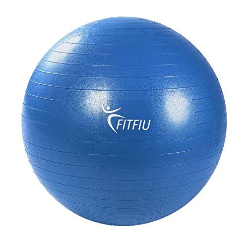 Fitfiu AB0065 - Balón para pilates y yoga, color azul, 65 cm