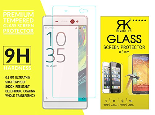 Sony Xperia XA Ultra Tempered Glass, 9H Hardness Ultra Clear, Anti-Scratch, Bubble Free, Anti-Fingerprints & Oil Stains Coating (For Sony Xperia XA Ultra)