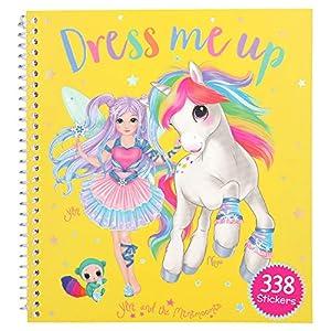Depesche Libro para Colorear 10832, Dress Me Up, Ylvi y los Minimoomis, Aprox. 19 x 17,7 x 1,5 cm