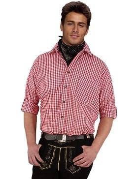 Top-Quality Trachtenhemd Herren - Rot-Karo/kariert - Langarm/Kurzarm - Komfort Reine Baumwolle - bügelfrei