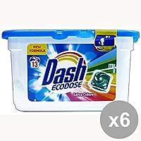 Set 6 DASH Lavatrice Ecodosi 13 Pezzi Salva Colore Detergenti Casa
