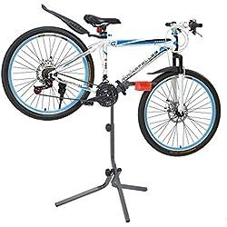[Neu.Haus] Soporte de Bicicleta para reparación - Gris Rojo - Marco de Metal - Estable - 72 x 27 x 8cm