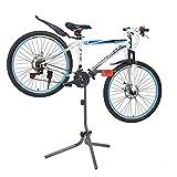 [neu.haus]® Fahrrad Montageständer Grau Rot Metall Reparaturständer Fahrradständer 72 x 27 x 8cm Rad Montage