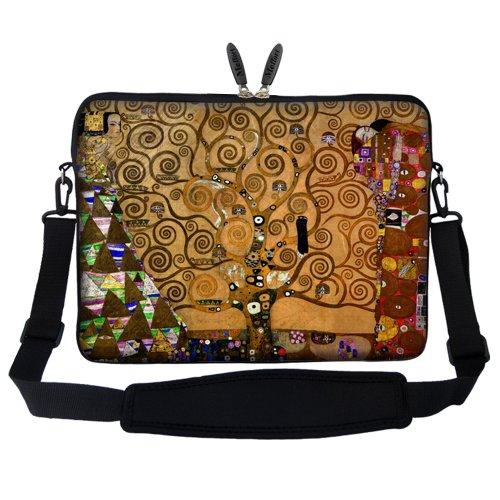 Preisvergleich Produktbild 17 43,94 cm Neopren Tasche Tragetasche mit verstecktem Griff und verstellbarem Schultergurt - Klimt Lebensbaum