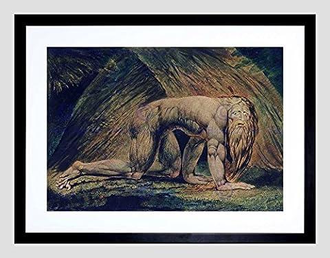 WILLIAM BLAKE NEBUCHADNEZZAR TATE COLLECTION BLACK FRAMED ART PRINT B12X2272