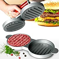 Gr8 Home Double Hamburger Beef Burger Quarter Pounder Maker Mould Press Patty Barbecue Bbq Meat Barbeque Grill