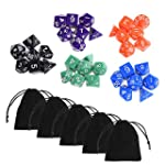 Blulu 35 Pieces Polyhedral Dice in 5...