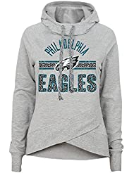 "Philadelphia Eagles Juniors NFL ""Flow"" Funnel Neck Hooded Sweatshirt Chemise"