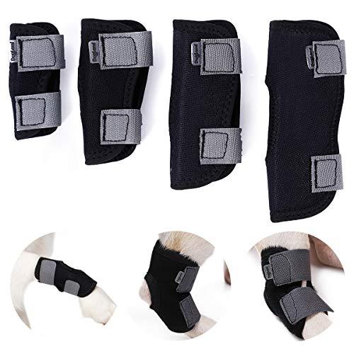 SelfLove Hunde Kniebandage Gelenkbandage für Hunde Hinterbein Beinstütze Knieschutz Sprunggelenk Protektor zur Stabilisierung u. Unterstützung verhindert Verletzung u. Verstauchung (S)