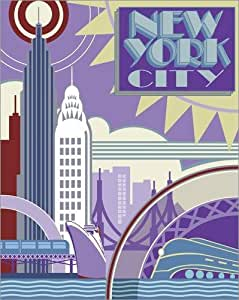 Poster 40 x 50 cm: New York by Pete Kelly / MGL Licensing - high quality art print, new art poster