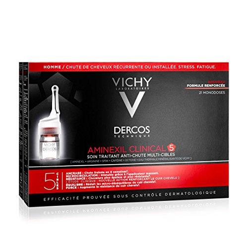 Vichy Dercos Aminexil Intensive 5 Trattamento Anticaduta Uomo 21 Fiale