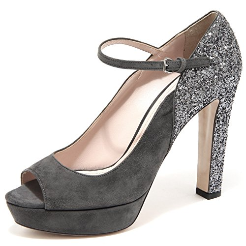 61971 decollete spuntato MIU MIU GLITTER scarpa donna shoes women [40]