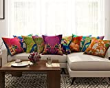 SEJ Cotton (Set of 10) HD Digital Premium Cushion Cover 16 by 16 INCH Multicolor