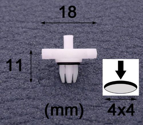 10x Clips Agrafes Plastique - BMW E46 Clips Garniture Pour Toit Pluie Gouttière Plastique Moulure Bords (51138204858) - LIVRAISON GRATUITE!