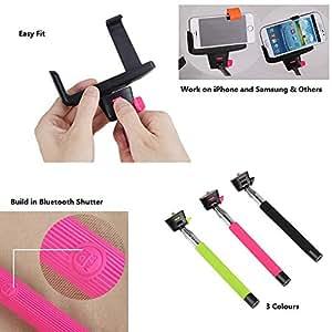 crazyprofit pink bluetooth selfie stick extendable telescopic handheld self p. Black Bedroom Furniture Sets. Home Design Ideas