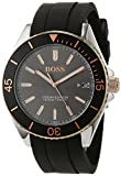 Hugo BOSS Unisex-Adult Analogue Classic Quartz Connected Wrist Watch with Silicone Strap 1513558