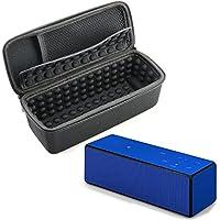 Nicecool® rigida EVA Custodia portatile da viaggio Scatola protettiva Custodia Cover per Sony srsx3/srsx33Wireless Bluetooth Speaker System Storage Box con moschettone (Nero + Grigio)