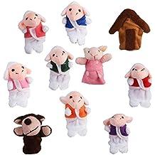 10pcs Juguete Marioneta de Mano Títeres de Dedos para Canción Infantil Cuento ...