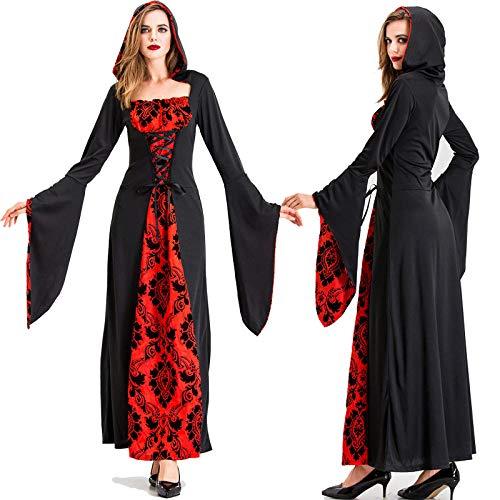 JRKJ Halloween-Hexenkostüm Weibliche Erwachsene Ghost Black Red Devil Wear Plays Out @ - Weibliche Red Devil Kostüm