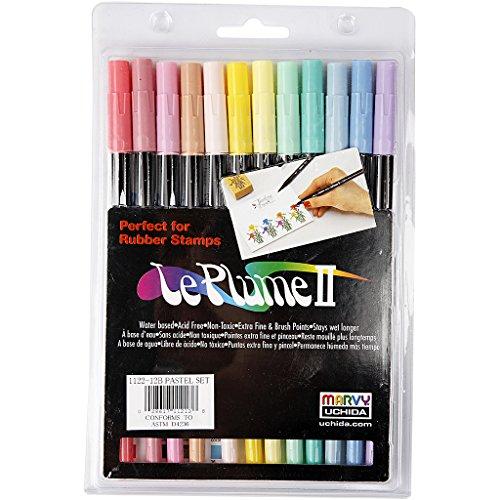Penne La Plume II, pastel farver, 12pz