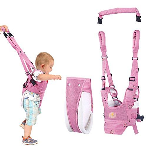 Andador Toddler Walking Assistant, Autbye De pie y caminando Aprendizaje Ayudante Para bebé, 4 en 1 funcional Arnés para caminar de seguridad Walker para bebé 7-24 meses (rosado)