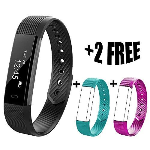 QUDER® - ergonomisches Fitness Armband - wasserdicht (IP67) - inkl. Schlaf Monitor und Schrittzähler für IOS und Android - (auch für Kinder)
