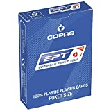 Copag European Poker Tour (EPT) 100% Plastic Playing Cards Poker Size Jumbo Index (Blue Back) by Copag