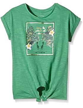 TOM TAILOR Kids Mädchen T-Shirt Knotted Tee Dschungel Print