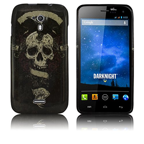 Wiko Darknight Silikon-Hülle Totenkopf