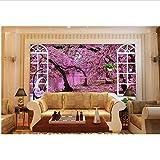 Personalice el papel de pared 3d. Foto Man Park Spring Fondos de pantalla 3D para sala de estar Papel de parede Fondos de pantalla 3D para pared-400x280cm
