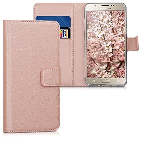 kwmobile Hülle für Samsung Galaxy J5 (2016) DUOS - Wallet Case Handy Schutzhülle Kunstleder - Handycover Klapphülle mit Kartenfach und Ständer (Duo Handys)