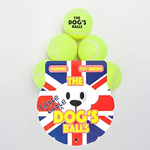 The Little Little Dog's Balls - 6 Small Premium Yellow Tennis Balls for Dogs, Dog Toy Mini Ball for Your Puppy, Small Dog or Cat. For Puppy Exercise, Puppy Play, Small Dog Play, Puppy Training & Fetch. 6 Authentic Tennis Balls for a Smaller Mouth, Too Small for Chuckit Launchers & No Squeaker, The King Kong of Little Dog Balls! Woof