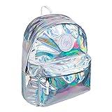 Hype holographique Sac à dos - idéal école sacs - Sac à dos pour garçons et filles - Argent, One Size
