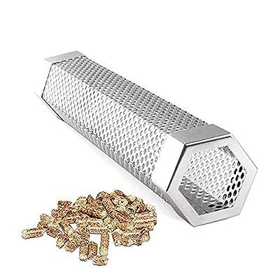 Merrday 12 '' Premium Pellet Smoker Tube Edelstahl Hexagonal BBQ Rauchgenerator 5 Stunden wogenden Rauch zu Extra Rauchgeschmack für alle gegrillte Lebensmittel hinzufügen