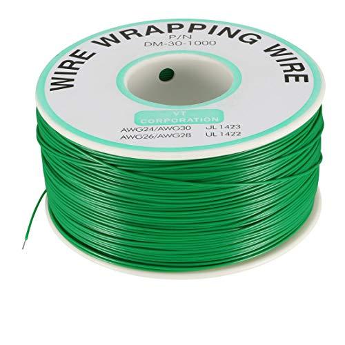 UXCELL Wrapping filo filo di rame stagnato PCB saldatura cavo fili P/N dm-30-100030AWG, a18033100ux0044