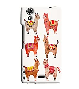 Omnam Sheep With Designer Clothes Printed Designer Back Cover Case For Micromax Selfie 2 Q340