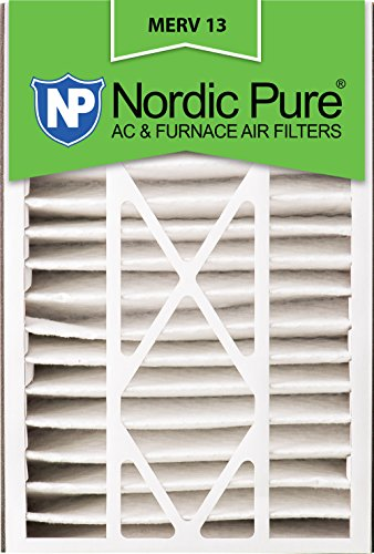 Nordic Pure 16x25x5 (4-7/8 Actual Depth) MERV 13 Trion Air Bear Replacement AC Furnace Filter, Box of 2