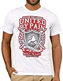 Ramirez T Shirt Herren United Aufdruck Wear Original Kurzarm mit Motiv Logo Druck Aufdruck (Weiß, L)
