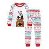 i-uend Baby Christmas 2Pcs Outfit Sets - Kids Infant Baby Boy Mädchen Cartoon Hirsch Weihnachten Pyjama Set Xmas Outfits Kleidung für 1-7 Jahre