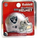 Riddell Revo Pocket Pro - Réplica de casco de los Oakland Raiders
