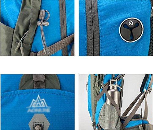 zaino trekking arrampicata all'aperto uomini e donne borsa a tracolla borsa da viaggio ultraleggero borsa escursioni 40 l 50L grande capacità impermeabile Zaini da escursionismo ( Colore : Nero , dime Army Green