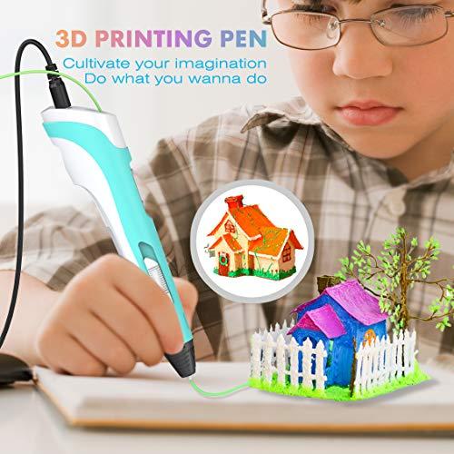 Tintec 3D Stift, 3D Druckstift 3D Stift Set 3D Pen mit LED-Bildschirm 1.75mm PLA/ABS Filament für Kinder und Erwachsene, Zeichnung und Kunstwerke - 6